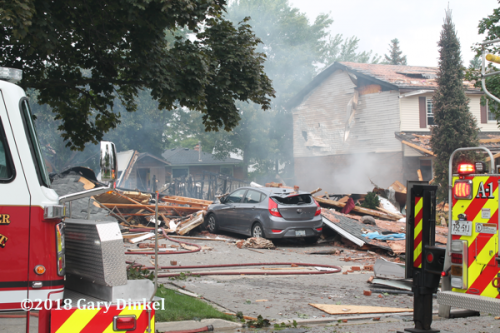 aftermath of house explosion