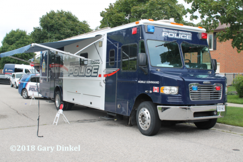 Waterloo Regional Police mobile command post Freightliner LDV
