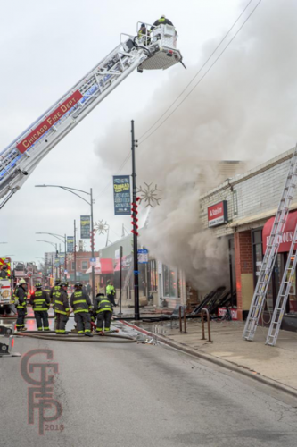 fire scene in Chicago