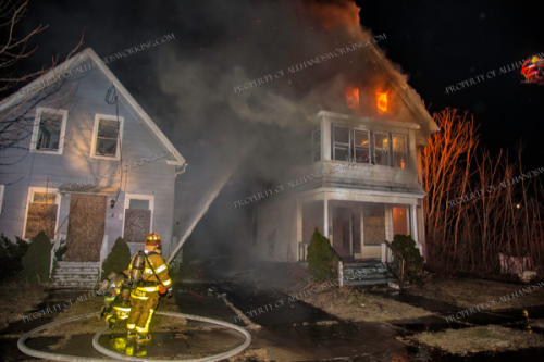 Firefighters in West Haven, CT battled a 2-Alarm fire in a vacant house 2/8/19