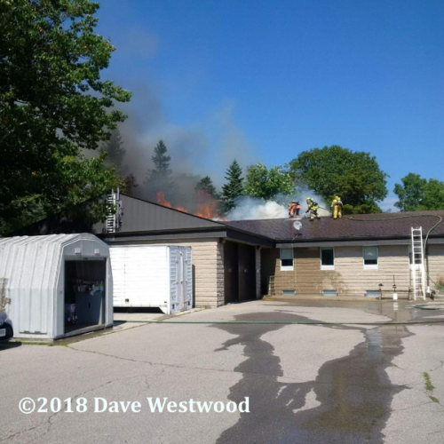 fire in the Ontario Provincial Police station